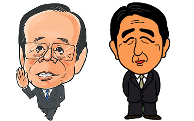 福田前総理 安倍元総理