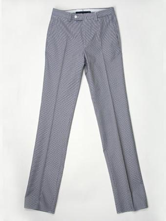 INCOTEX【インコテックス】コットンパンツ1JGWX5 61430 820 NAVY HOUND'S TOOTH cotton(ネイビー・千鳥柄)【春夏】