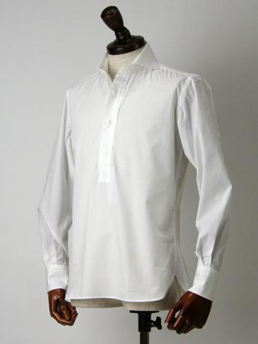 ORIAN【オリアン】プルオーバーシャツOY290 01U061 10 WHITE (ホワイト)