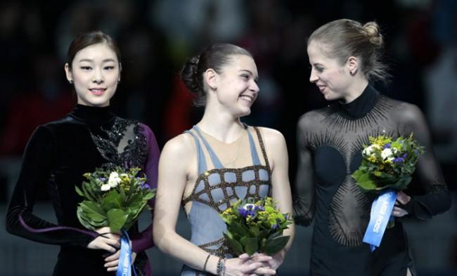 ソチ五輪 女子フィギュア 表彰台